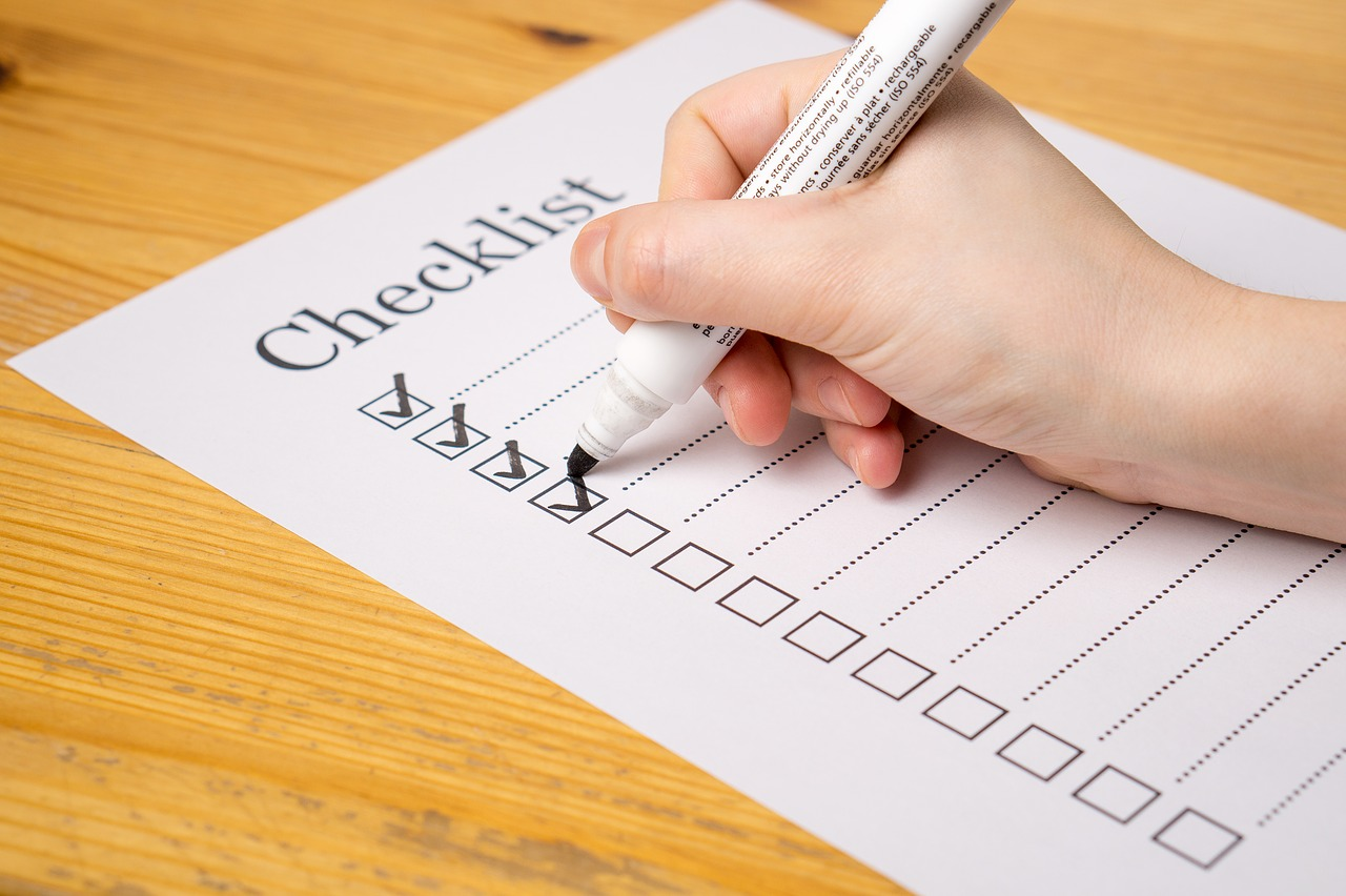 purchase mortgage documents checklist